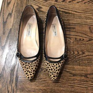 Jimmy Choo Leopard Flats